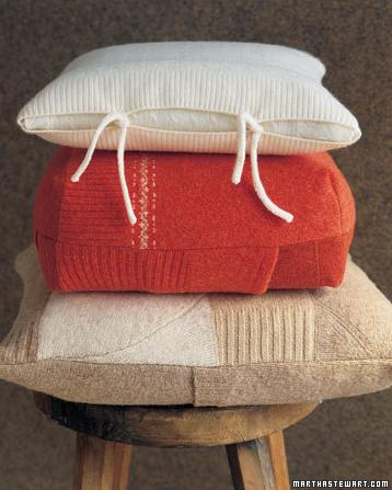 martha-steward-felted-sweater-pillows